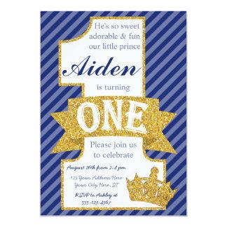 Príncipe Primeiro Aniversário Convite com