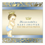 Príncipe real chá de fraldas convite quadrado 13.35 x 13.35cm
