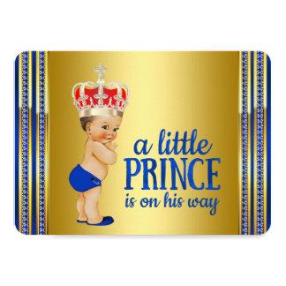 Príncipe real chá de fraldas convite 11.30 x 15.87cm