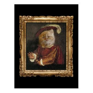 Príncipe real Gatinho Framed Retrato Cartão