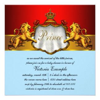 Príncipe régio chá de fraldas dos azuis bebés e do convite