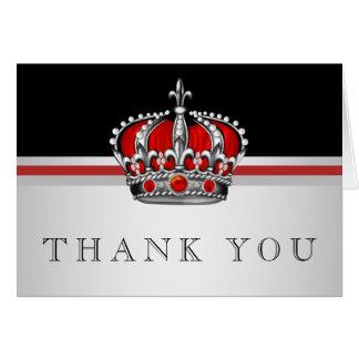 Príncipe vermelho Coroa Agradecimento Você Cartão