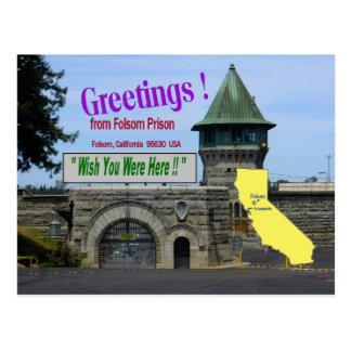 """Prisão """"desejo de Folsom você estava aqui"""" cartão"""