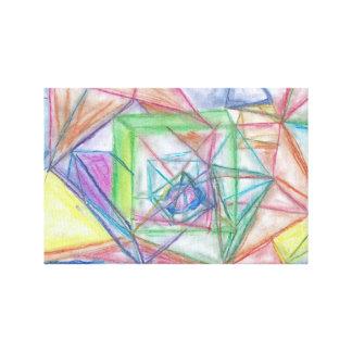 Prismas abstratos impressão de canvas esticadas