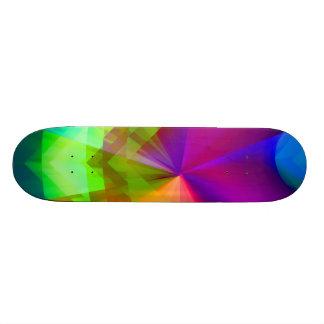 Prismas galácticos shape de skate 18,1cm