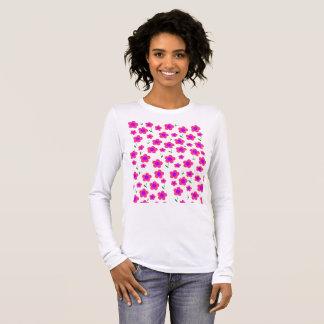 Pritty no rosa camiseta manga longa