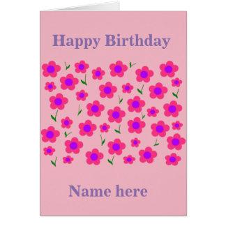 Pritty no rosa cartão comemorativo
