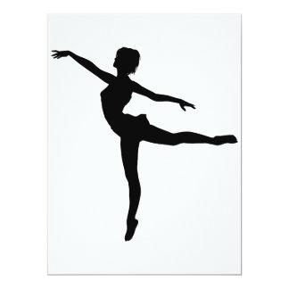 ~ PRIVADO do DANÇARINO (silhueta - dança moderna) Convite 16.51 X 22.22cm