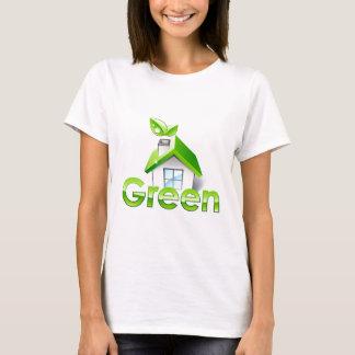 Pro ambiental verde camiseta