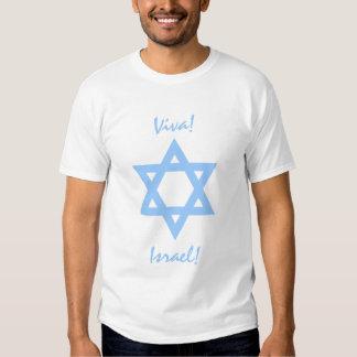 """Pro camisas Viva Israel"""" da estrela de David de T-shirt"""
