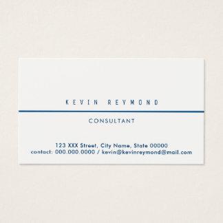 pro cartão de visita branco com linha azul