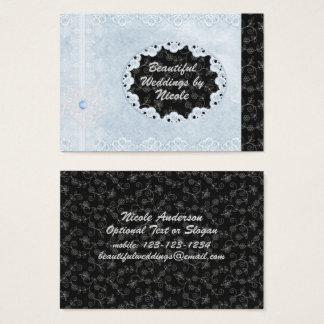 Pro cartão de visita chique do casamento azul &