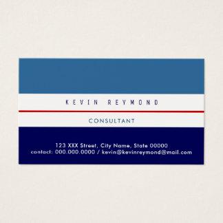 pro cartão de visita com dois tons do azul