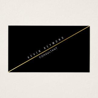 pro cartão de visita preto com linha diagonal do