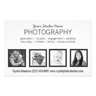 Pro fotógrafo de 4 fotos ou alguma profissão panfleto coloridos