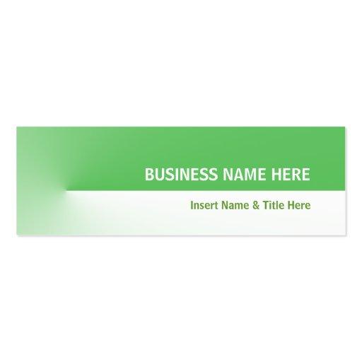 Pro mini verde cartões de visitas