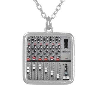 Pro misturador audio colar com pendente quadrado