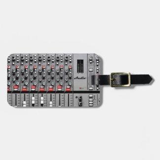Pro misturador audio etiqueta para bagagem