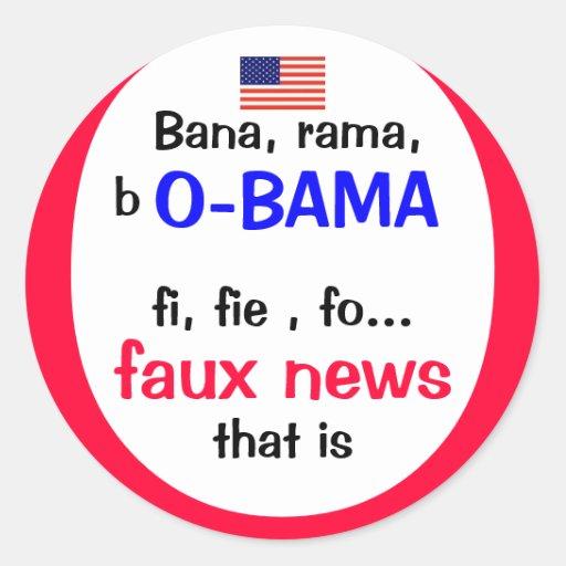 Pro Obama e relatório anti-falso Adesivos