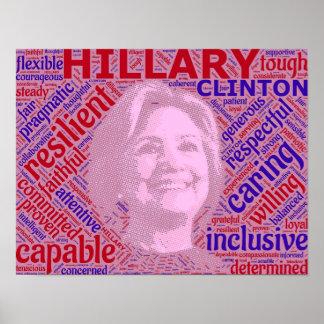 Pro poster do apoio de Hillary Clinton