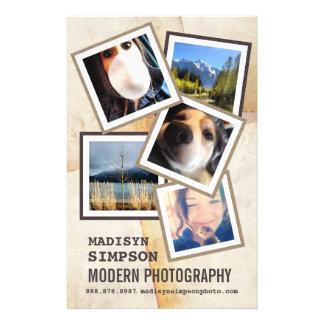 Pro propaganda moderna do fotógrafo modelos de panfleto