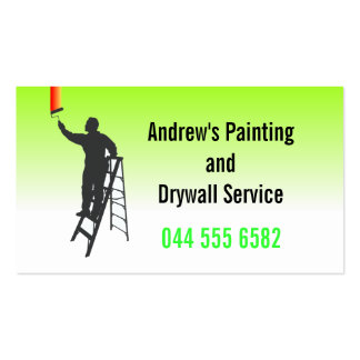 Pro serviço da pintura cartão de visita