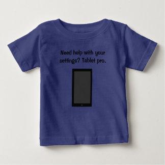 Pro t-shirt da tabuleta camiseta para bebê