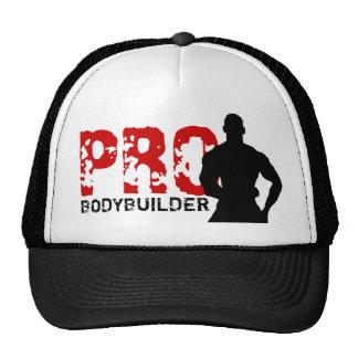 Pro vermelho & chapéu negro do Bodybuilder Boné