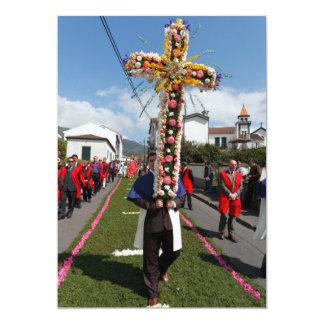 Procissão católica nos Açores Convites Personalizado