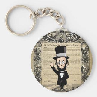 Proclamação da emancipação e Abe honesto Lincoln Chaveiro