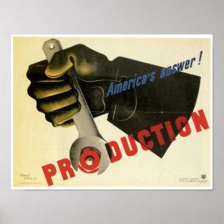 Produção do ~ da resposta de América! Posteres