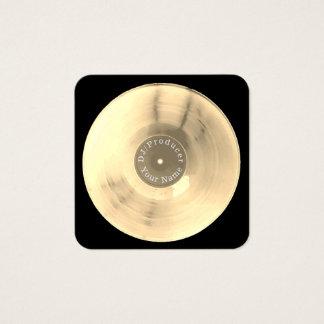 Produção do DJ do disco do registro de vinil do Cartão De Visitas Quadrado