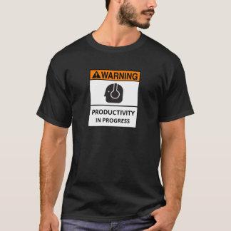Produtividade em andamento - camisa de T