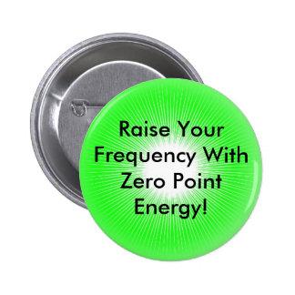Produto do Promo da energia de ponto zero Botons