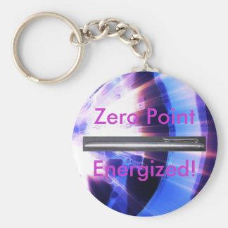 Produto do Promo da energia de ponto zero Chaveiro