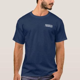 Produtor T.Shirt básico clássico (azuis marinhos) Camiseta