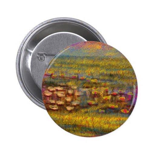 Produtos abstratos impressionista das belas artes botons