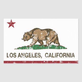 produtos afligidos Los Angeles da bandeira de Adesivos Em Forma Retangular