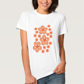 Produtos alaranjados florais camiseta