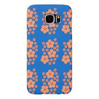 Produtos alaranjados florais capas samsung galaxy s6