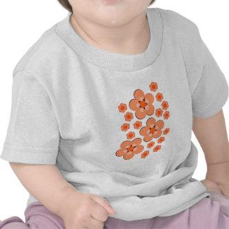 Produtos alaranjados florais camisetas