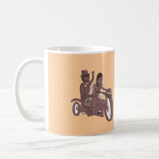 Produtos do casamento do motociclista caneca