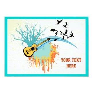Produtos do costume da guitarra acústica convite 12.7 x 17.78cm