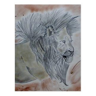 Produtos do leão cartao postal