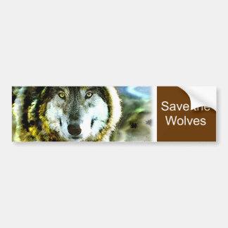 Produtos do lobo de madeira de JungleWalk.com Adesivos