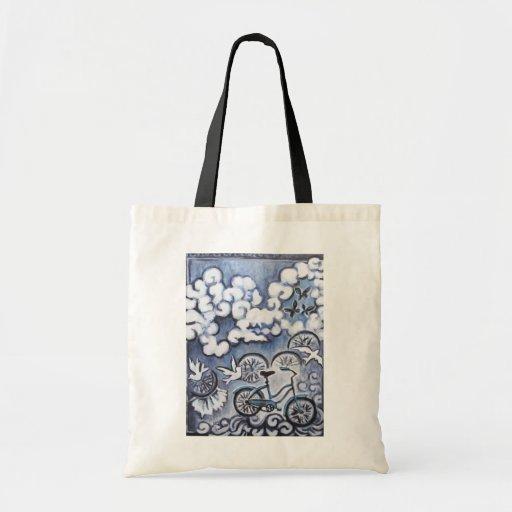 Produtos lunáticos da pintura da bicicleta bolsa