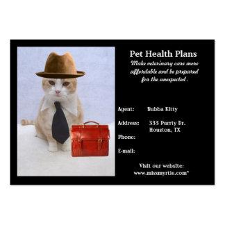 Produtos & serviços do animal de estimação cartão de visita grande