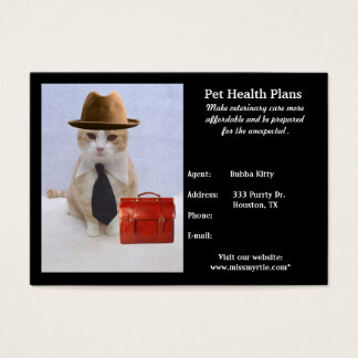 Produtos & serviços do animal de estimação cartão de visitas