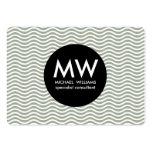 Profesional elegante círculo negro ondas agua cartão de visita grande