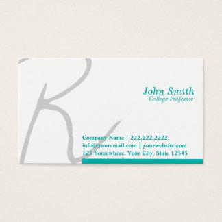 Professor à moda cartão de visita da tipografia